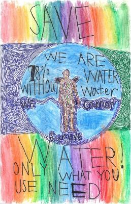 2019 Imagine a Day without Water Art Contest 3rd – 4th Grade Winner Timothy Choo