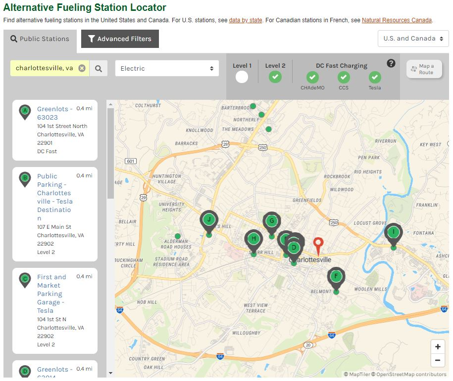 Alternative Fueling Station Locator