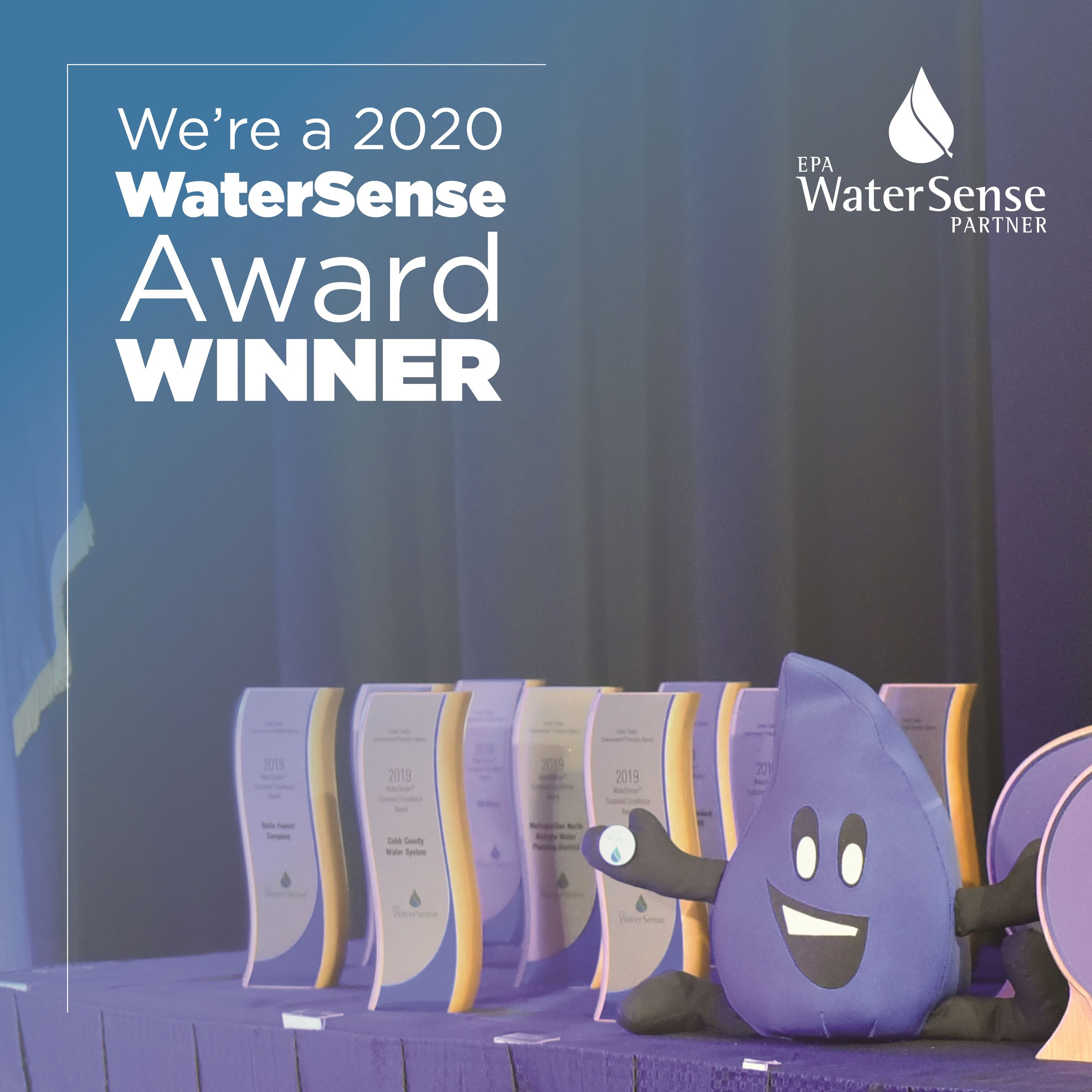 2020 WaterSense Award Winner graphic of Flo With Awards