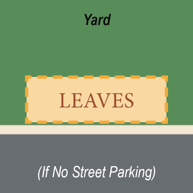 Leaf placement with no street parking