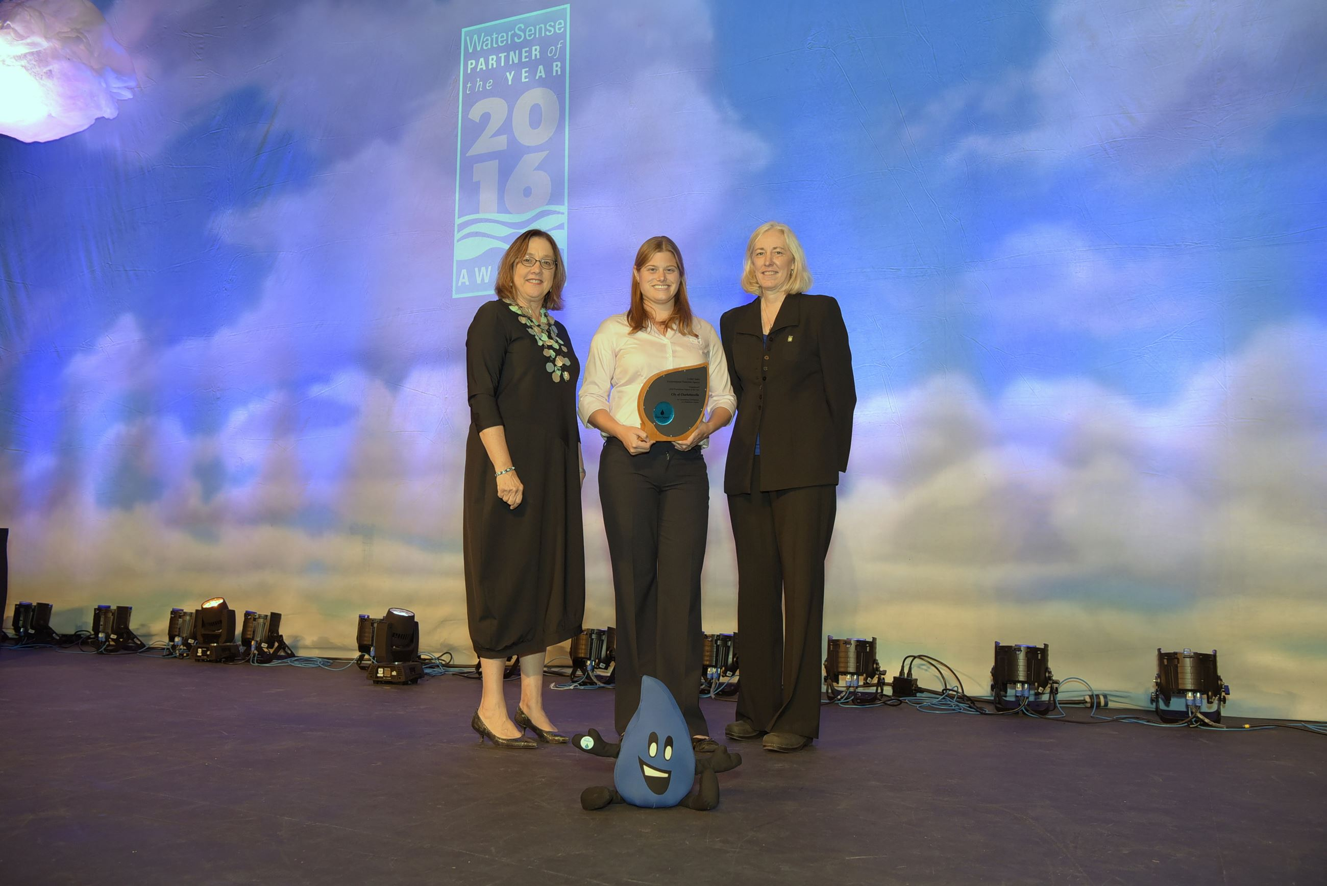 Charlottesville accepting the 2016 WaterSense Partner of the Year Award