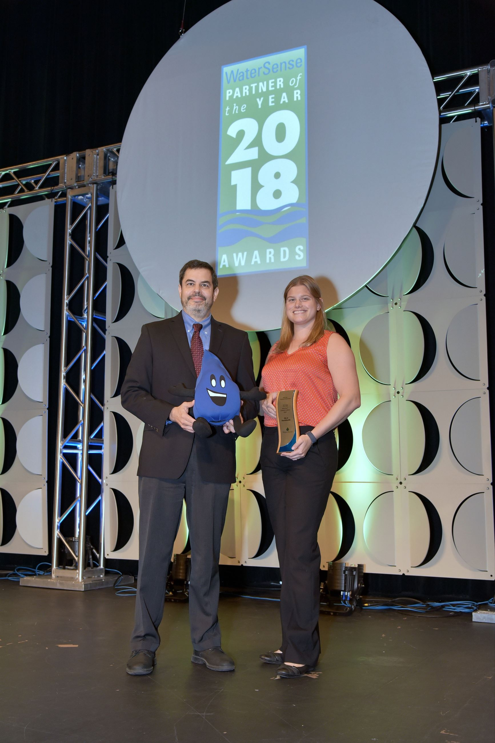 Charlottesville Accepting the 108 WaterSense Sustained Excellence Award