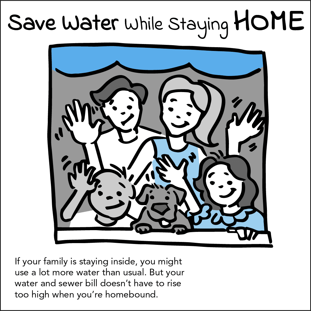 Save Water While Staying Home Image