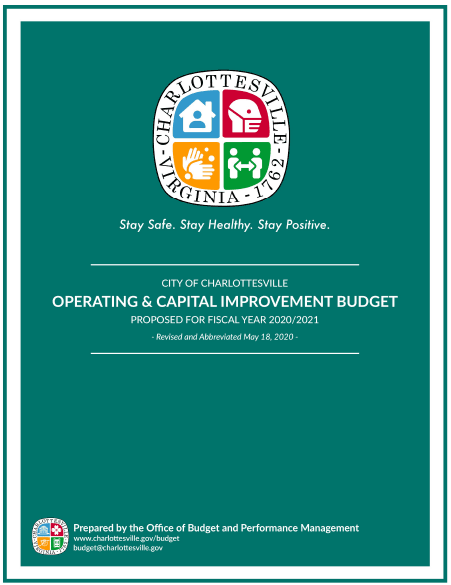 FY 2021 Budget Cover - Revised