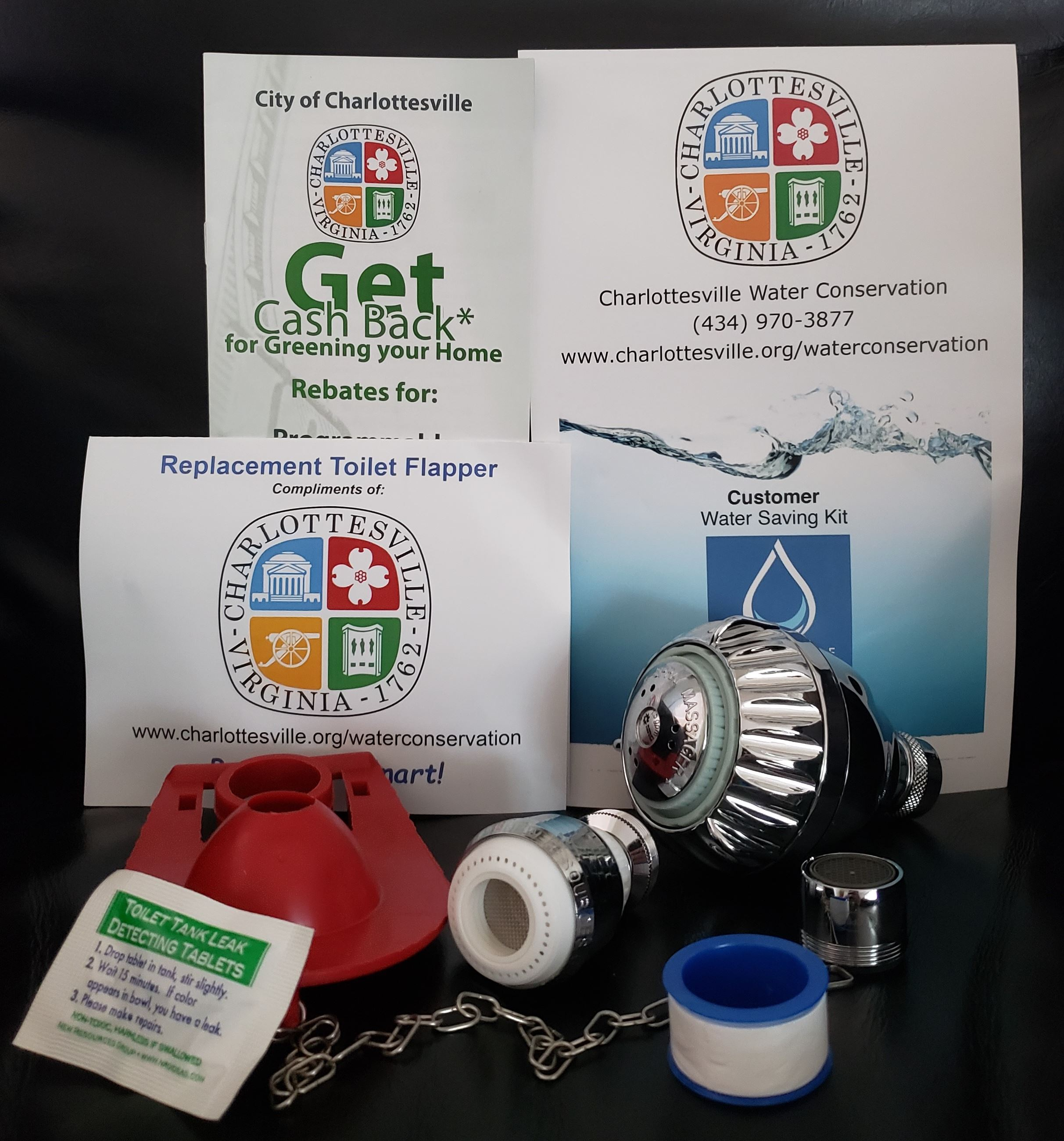 Water Conservation Kit and Toilet Flapper Image