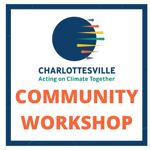"""Text announcing an """"Acting on Climate Together"""" Community Workshop"""