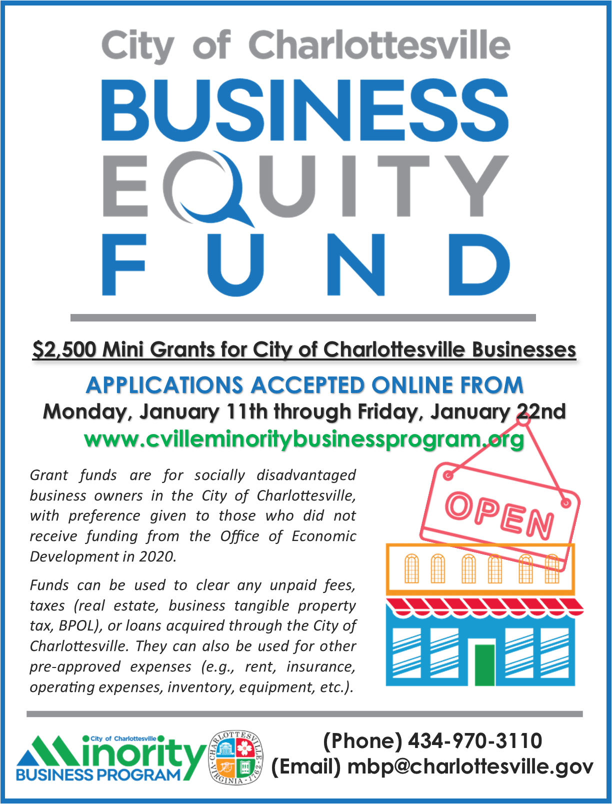 BEF Mini Grant Flyer